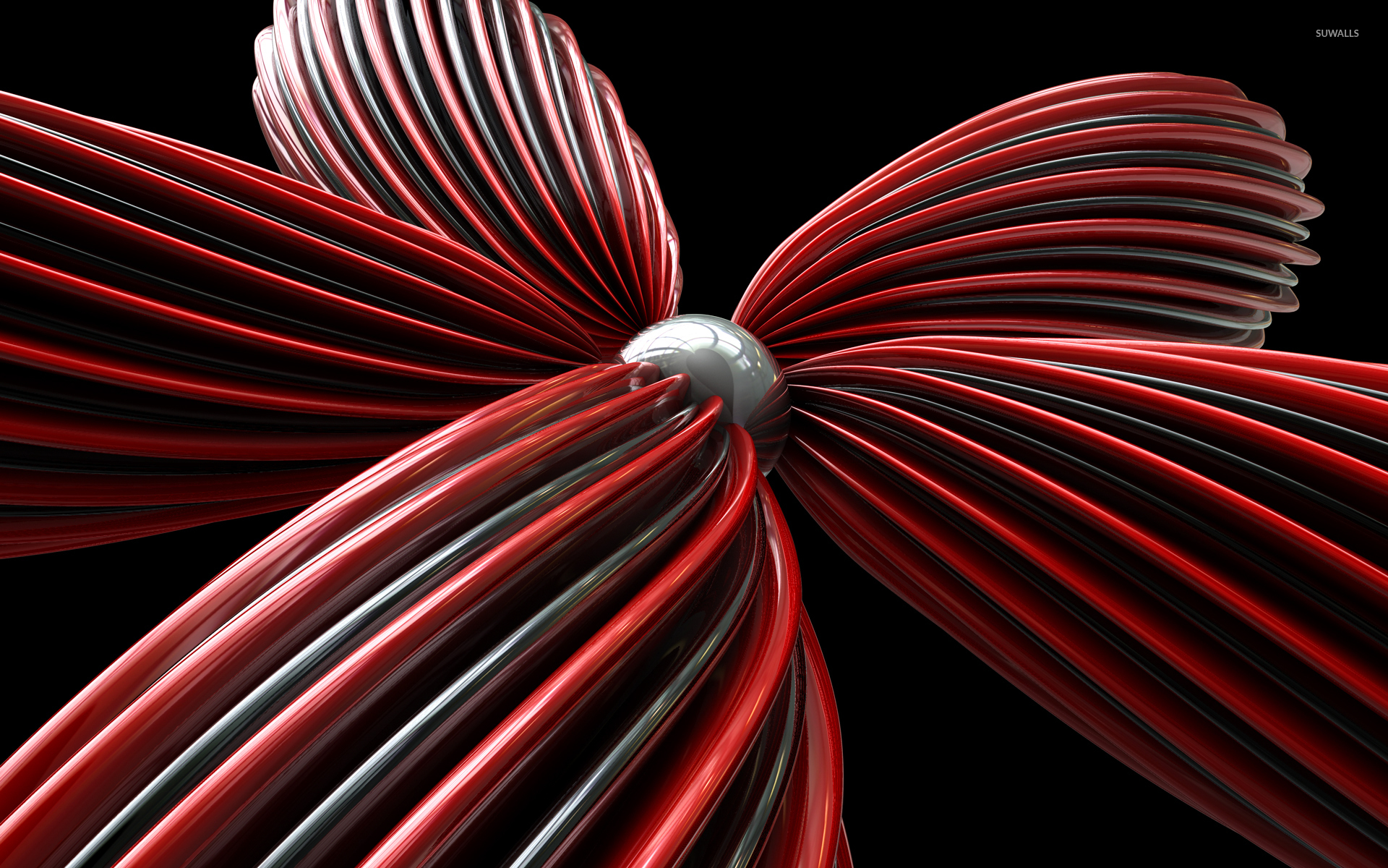 red flower wallpaper - 3d wallpapers - #38675