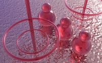 Red glass balls and circles on the water wallpaper 1920x1200 jpg