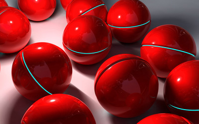 Red spheres wallpaper
