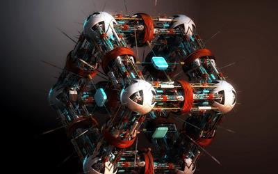 Robo cube wallpaper