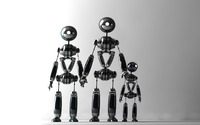 Robot family wallpaper 1920x1200 jpg