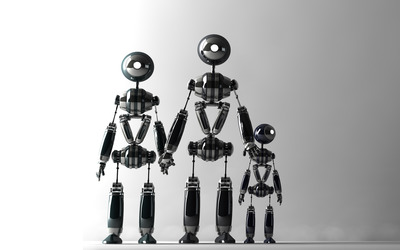 Robot family wallpaper