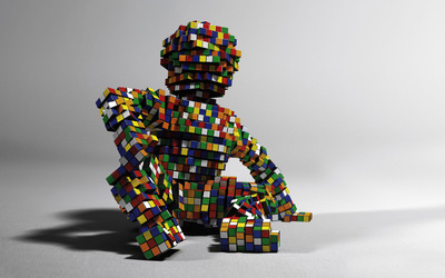 Rubiks cube figure wallpaper