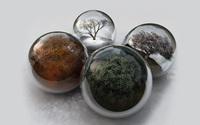 Seasons in glass spheres wallpaper 2560x1600 jpg