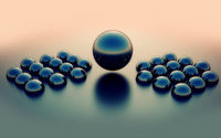 Shiney spheres in fog wallpaper 1920x1200 jpg