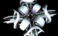 Shiny plastic sculpture wallpaper 2560x1600 jpg
