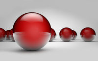 Shiny red spheres wallpaper 1920x1200 jpg