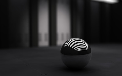 Shiny sphere wallpaper