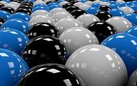 Shiny spheres wallpaper 2560x1440 jpg