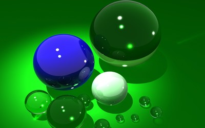 Shiny spheres [2] wallpaper