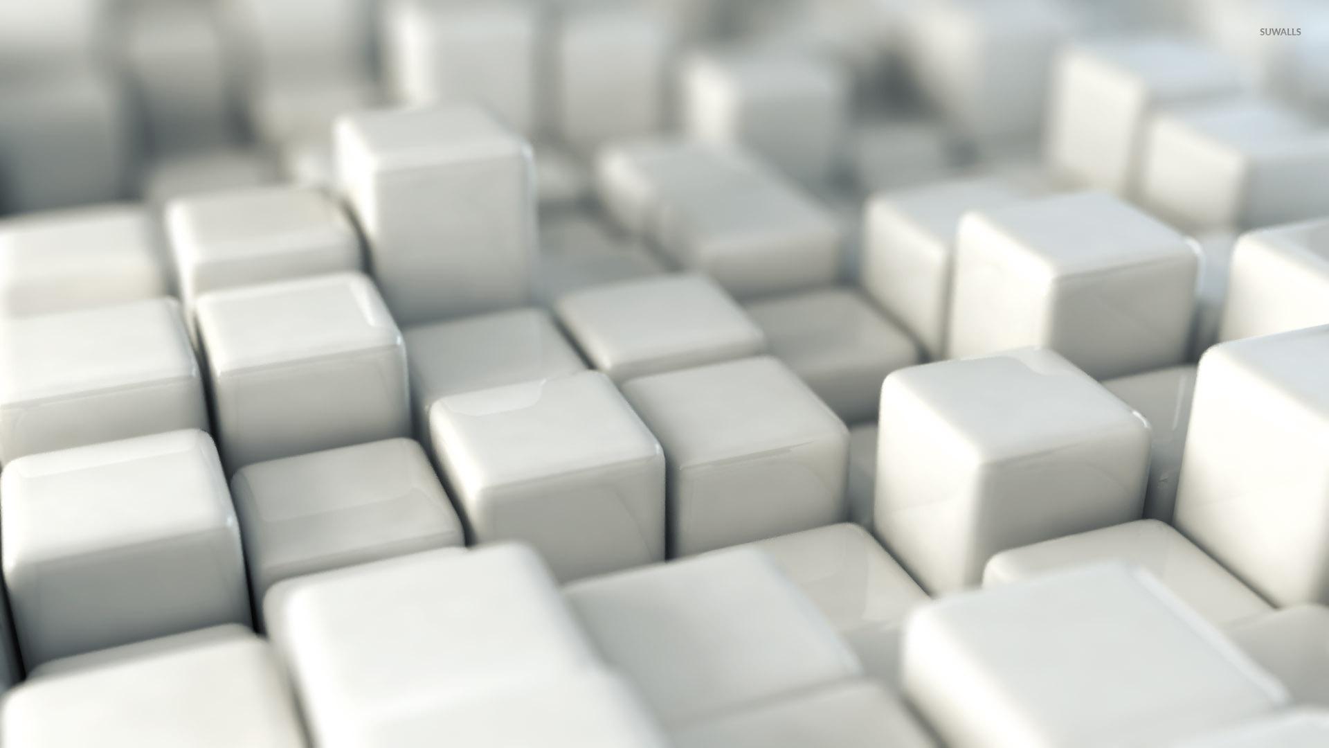 Shiny White Cubes Wallpaper 1920x1080 Jpg