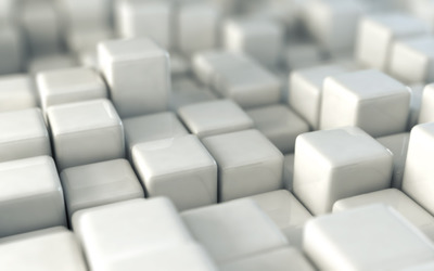 Shiny white cubes wallpaper