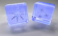 Snowflake cubes wallpaper 2560x1600 jpg