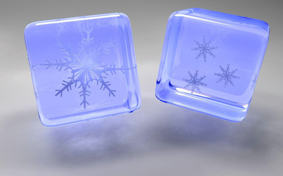 Snowflake cubes wallpaper