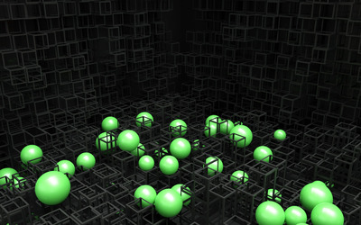 Spheres and cubes [2] wallpaper