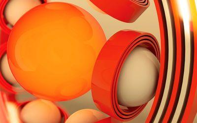 Spheres in rings wallpaper