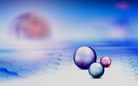 Spheres on a hexagon floor wallpaper 1920x1200 jpg
