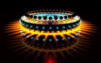 Spheres on circular stage wallpaper 1920x1200 jpg