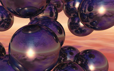 Spheres reflecting each other [2] wallpaper