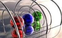 Spheres under metal rings wallpaper 1920x1200 jpg
