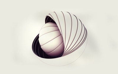 Spherical shell wallpaper