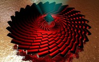 Spiraling red pillars wallpaper 1920x1200 jpg