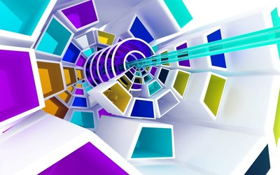 Spiraling shapes wallpaper