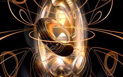 Spiraling tubes wallpaper