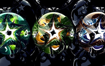 Stars in spheres wallpaper