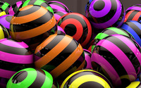 Striped colorful spheres wallpaper 1920x1080 jpg