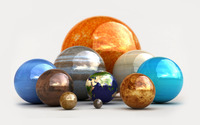 The Solar System spheres wallpaper 2880x1800 jpg