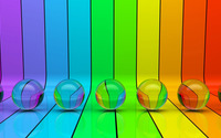 Transparent spheres on rainbow stripes wallpaper 1920x1080 jpg