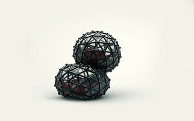 Trapped spheres wallpaper