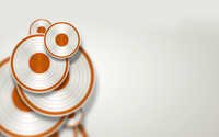 White and orange discs wallpaper 1920x1200 jpg