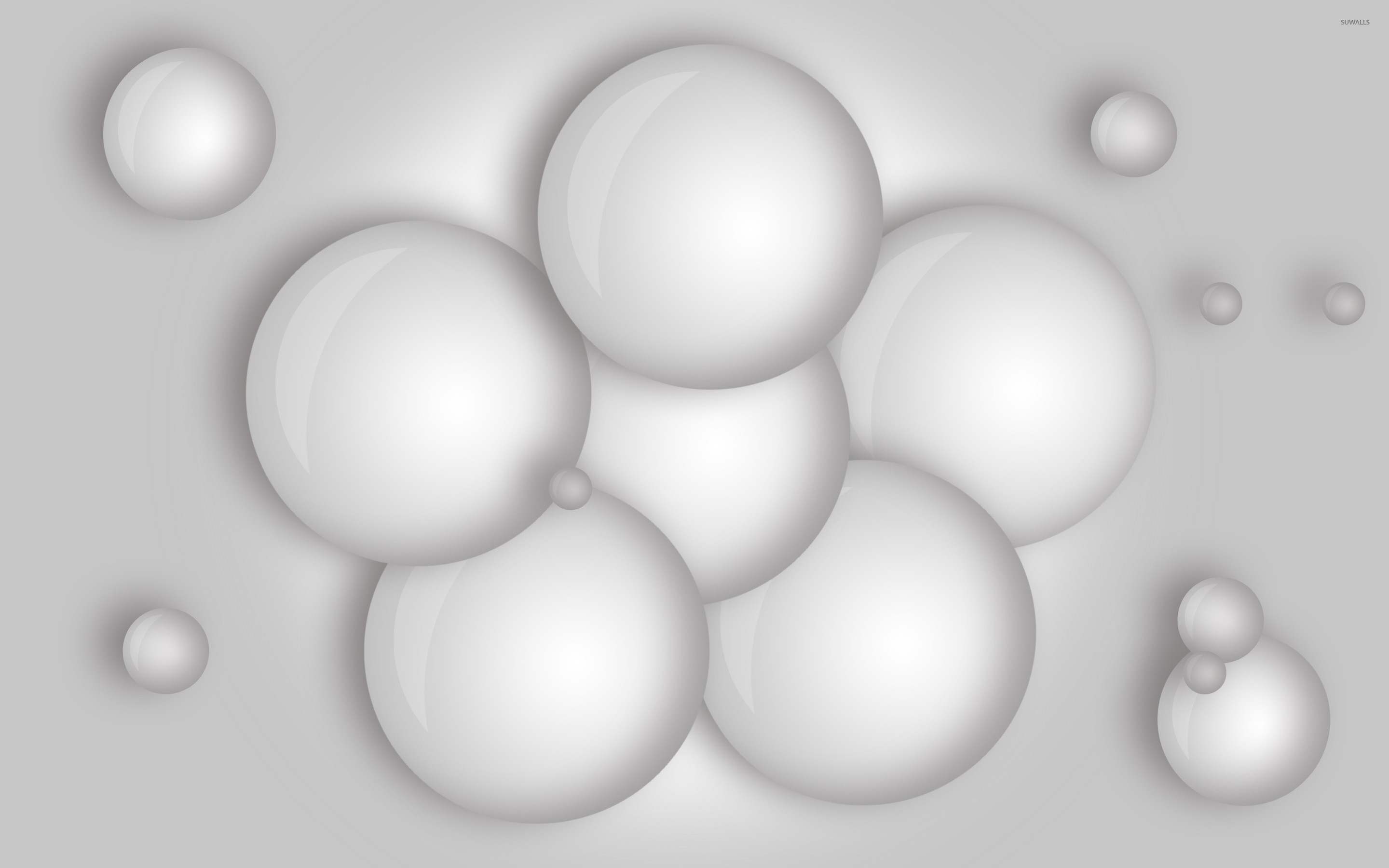 White balls wallpaper 3d wallpapers 23131 for Wallpaper 3d white