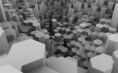 White honeycombs wallpaper
