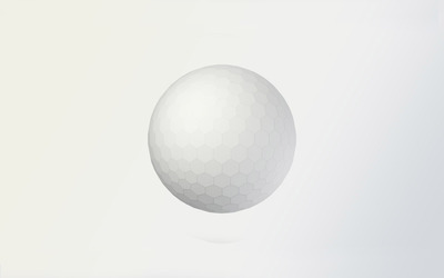 White sphere with honeycomb pattern wallpaper