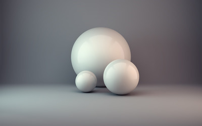 White spheres wallpaper