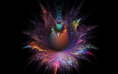 Amazing colors on the fractal flower wallpaper