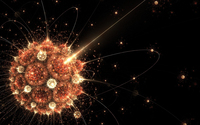 Atoms circling the bright sun wallpaper 1920x1200 jpg