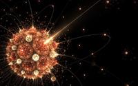 Atoms circling the bright sun wallpaper 1920x1200 jpg