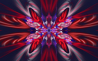 Beautiful red and blue fractal wallpaper 1920x1080 jpg