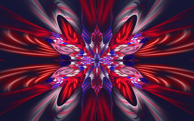 Beautiful red and blue fractal wallpaper
