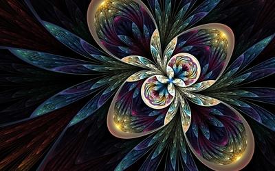 Beauty of a fractal flower wallpaper