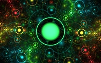 Big green sun protecting the galaxies wallpaper 1920x1080 jpg