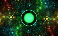 Big green sun protecting the galaxies wallpaper 1920x1080 jpg