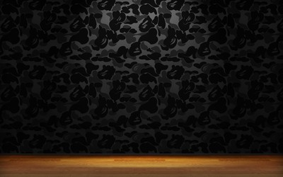 Black shapes on the wall wallpaper