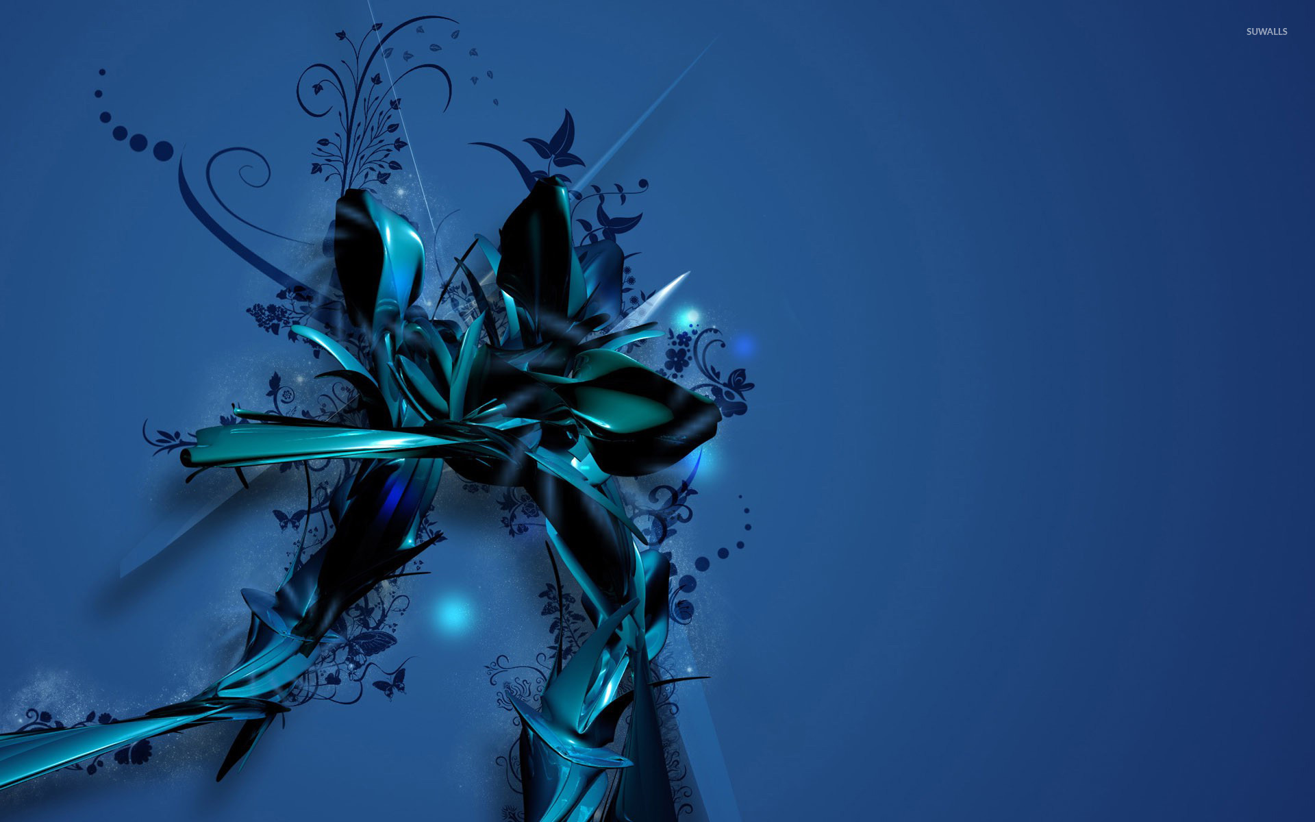 Blue flower wallpaper abstract wallpapers 16944 blue flower wallpaper izmirmasajfo