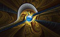 Blue fractal circle wallpaper 1920x1080 jpg