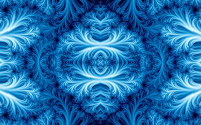 Blue fractal ice wallpaper